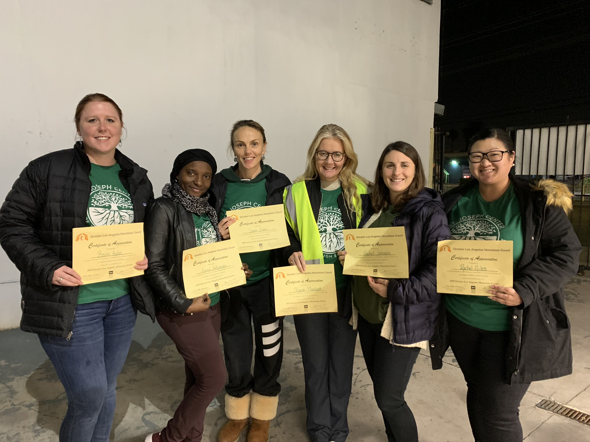 2020 Greater Los Angeles Homeless Count Volunteers
